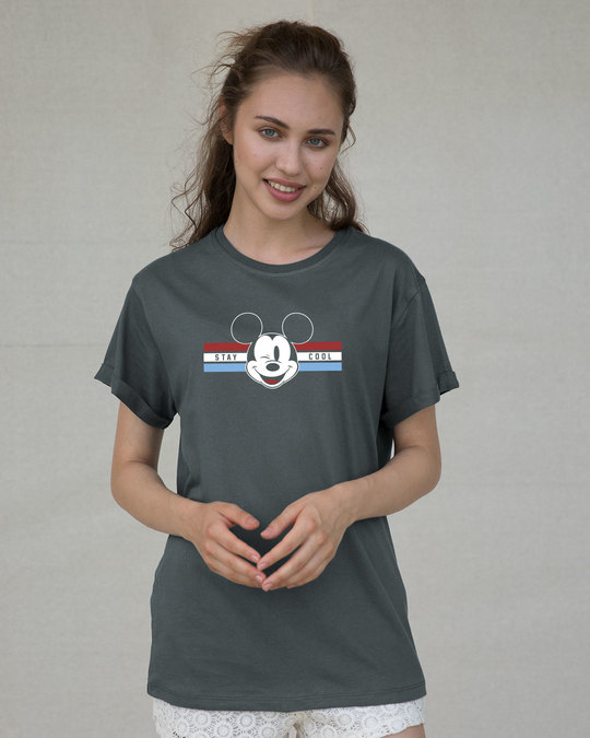 Shop Mickey Cool Boyfriend T-Shirt (DL)-Front