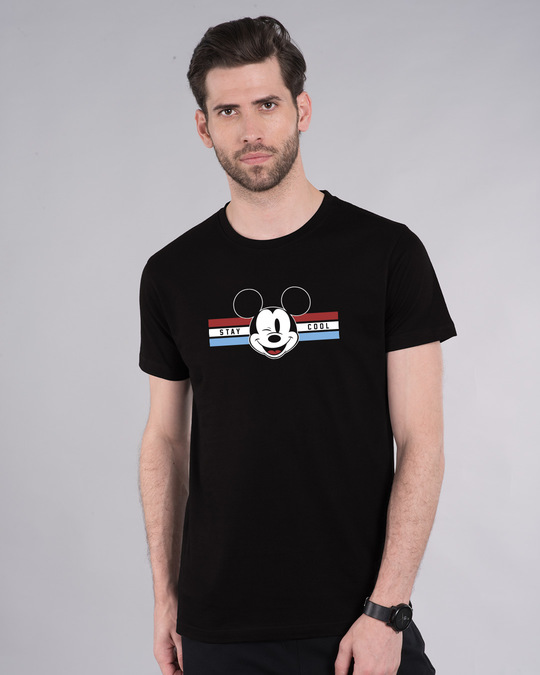 Shop Mickey Cool Half Sleeve T-Shirt (DL)-Back