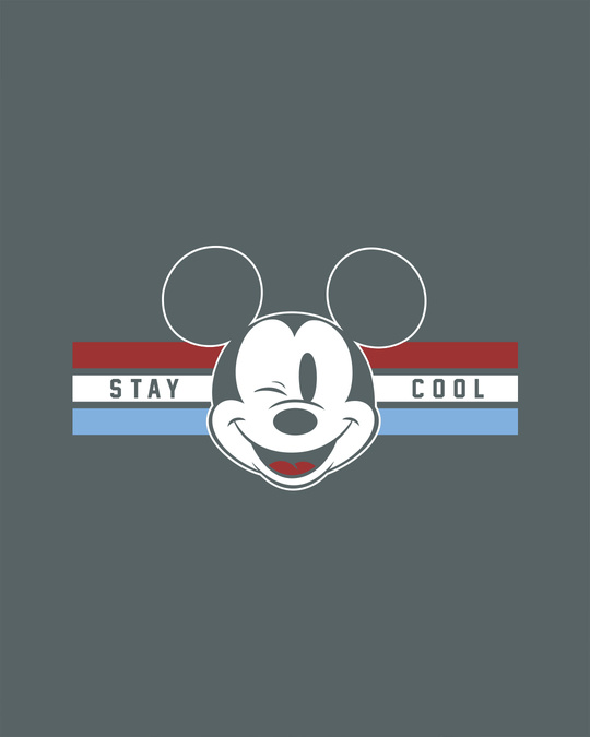 Shop Mickey Cool Round Neck 3/4th Sleeve T-Shirt (DL)-Full