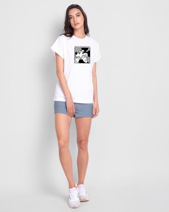 Shop Mickey Crush Boyfriend T-Shirt (DL)-Design