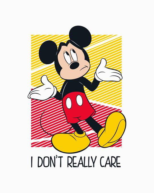 Shop Mickey Don't Care Half Sleeve T-Shirt (DL)-Full