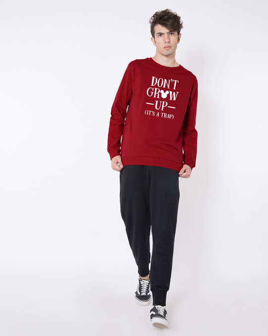 Shop Mickey Don't Grow Up Fleece-Light Sweatshirt (DL)-Design
