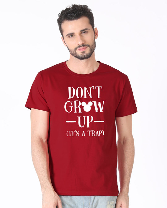 Shop Mickey Don't Grow Up Half Sleeve T-Shirt (DL)-Back