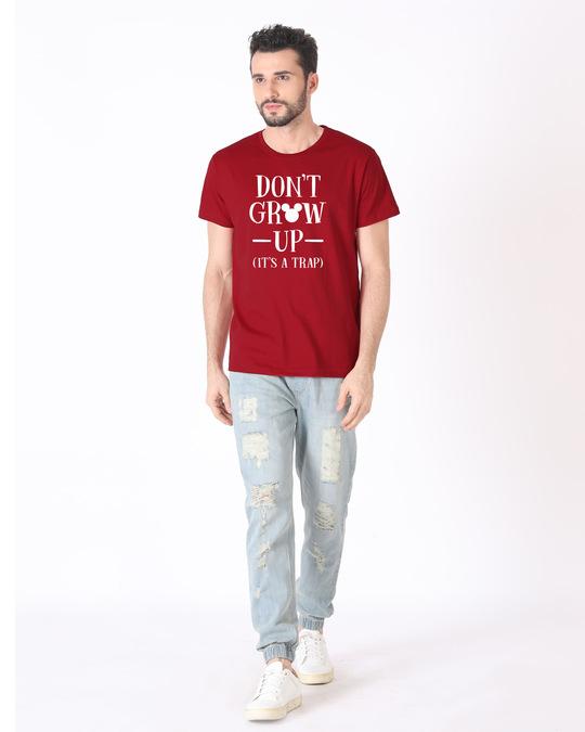 Shop Mickey Don't Grow Up Half Sleeve T-Shirt (DL)-Full