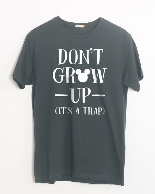 Shop Mickey Don't Grow Up Half Sleeve T-Shirt (DL)-Front