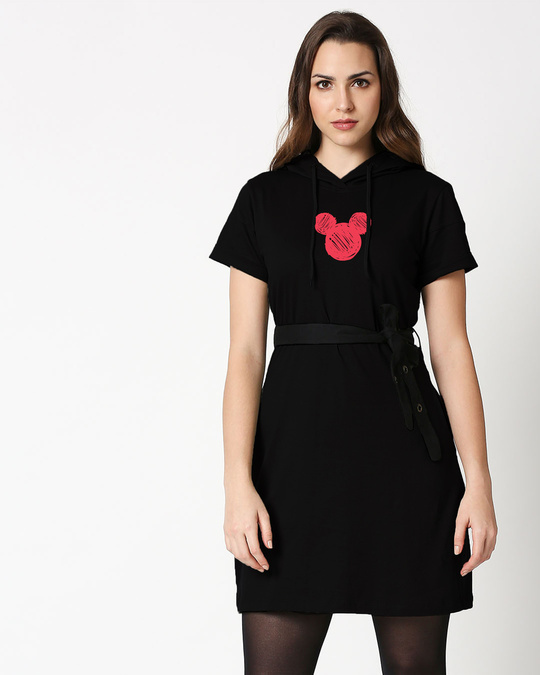 Shop Mickey Doodle Hoodie Dress-Front