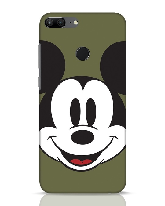 Shop Mickey Face Huawei Honor 9 Lite Mobile Cover-Front