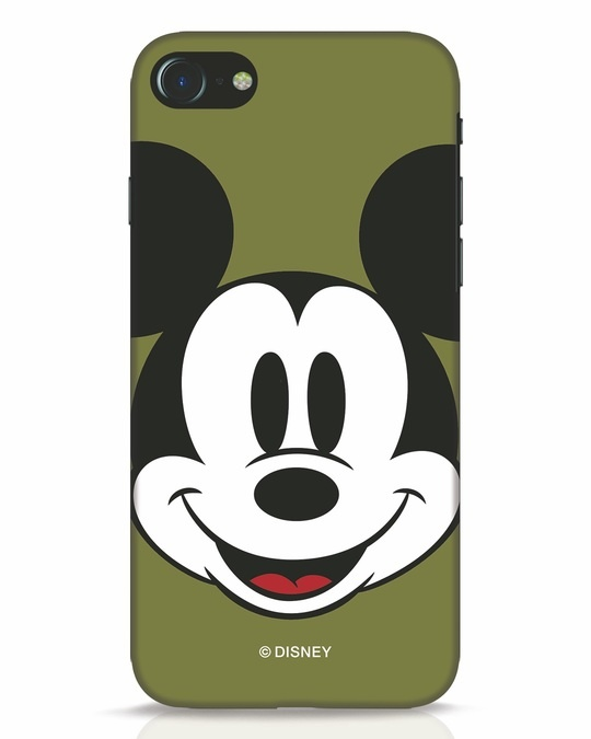 Shop Mickey Face iPhone 8 Mobile Cover-Front