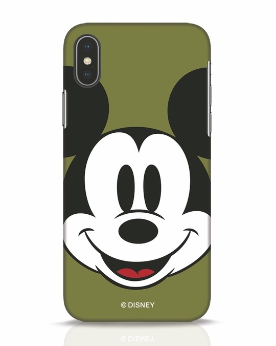 Shop Mickey Face iPhone X Mobile Cover-Front