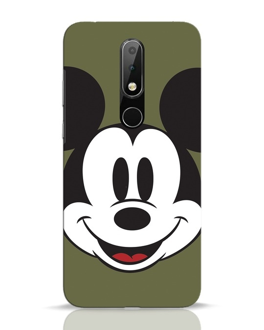 Shop Mickey Face Nokia 6.1 Plus Mobile Cover-Front