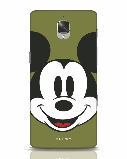 Shop Mickey Face OnePlus 3 Mobile Cover-Front