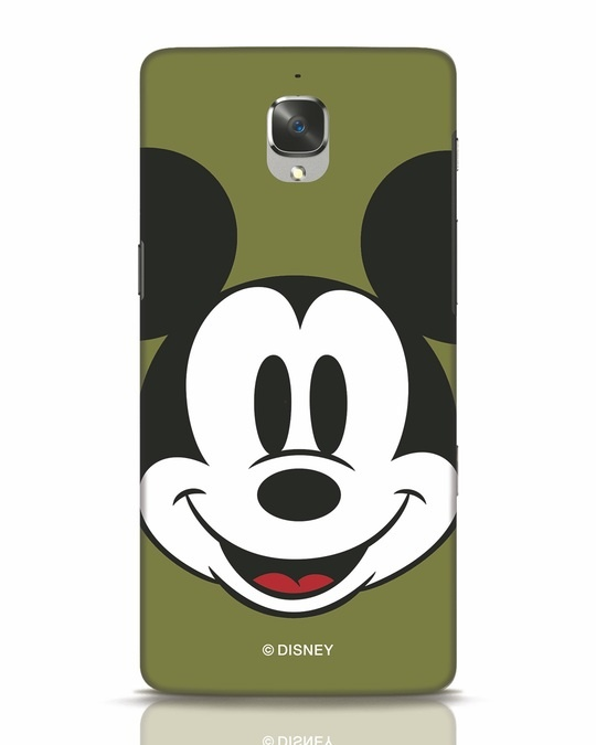 Shop Mickey Face OnePlus 3T Mobile Cover-Front