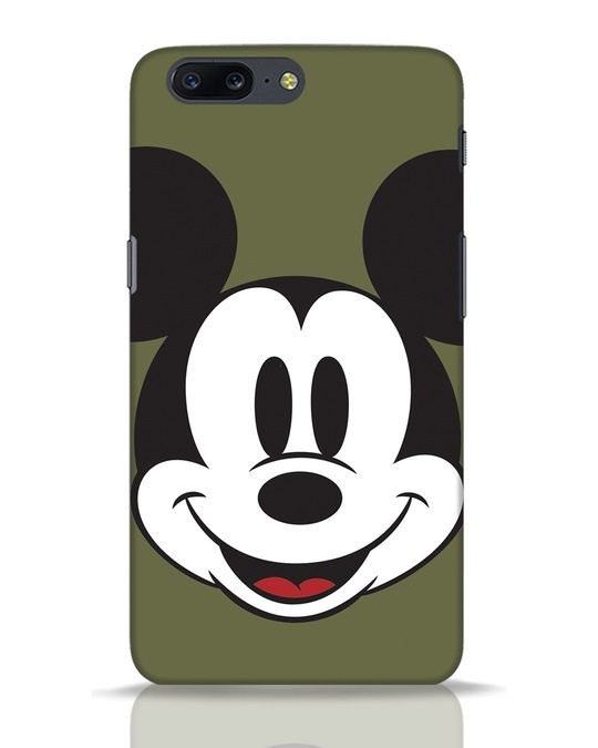 Shop Mickey Face OnePlus 5 Mobile Cover-Front