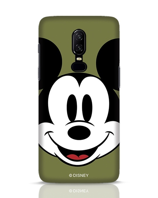 Shop Mickey Face OnePlus 6 Mobile Cover-Front