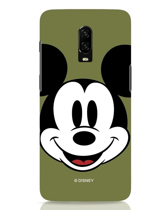 Shop Mickey Face OnePlus 6T Mobile Cover-Front
