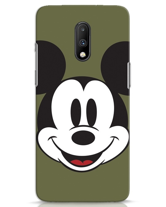 Shop Mickey Face OnePlus 7 Mobile Cover-Front