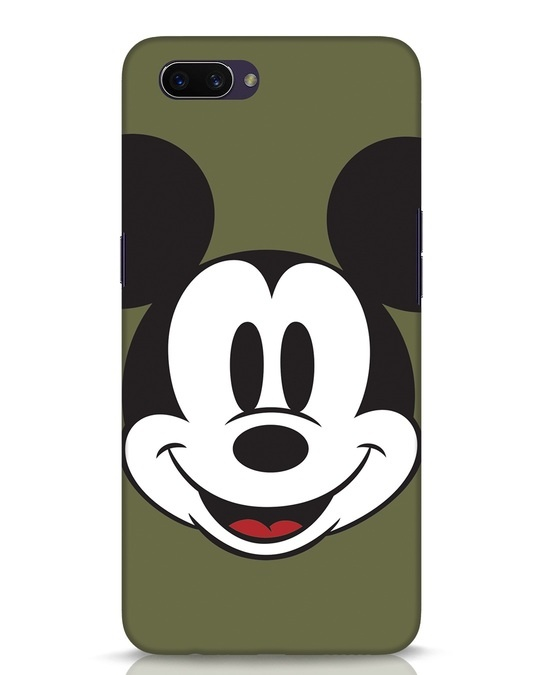 Shop Mickey Face Oppo A3S Mobile Cover-Front