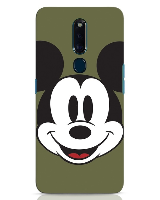 Shop Mickey Face Oppo F11 Pro Mobile Cover-Front