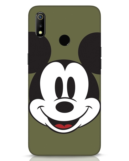 Shop Mickey Face Realme 3 Mobile Cover-Front