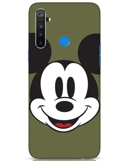Shop Mickey Face Realme 5 Mobile Cover-Front