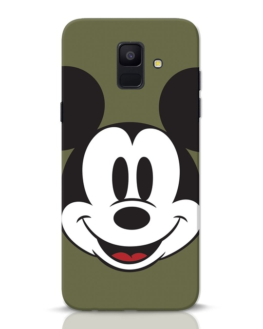 Shop Mickey Face Samsung Galaxy A6 2018 Mobile Cover-Front