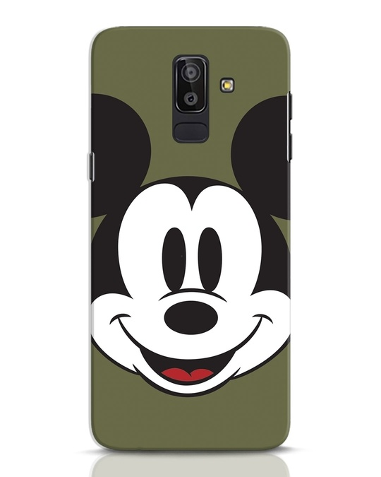 Shop Mickey Face Samsung Galaxy J8 Mobile Cover-Front