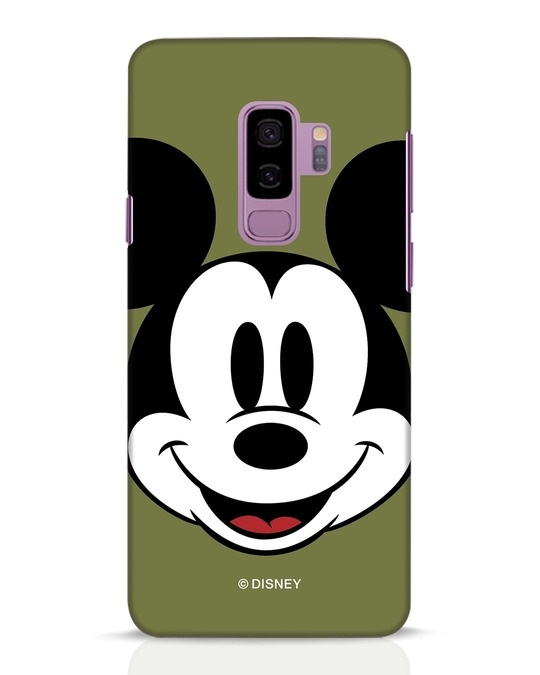 Shop Mickey Face Samsung Galaxy S9 Plus Mobile Cover-Front
