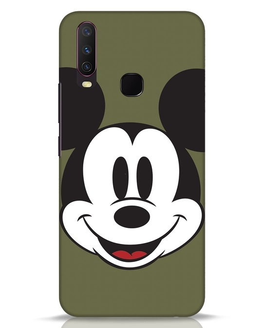 Shop Mickey Face Vivo Y17 Mobile Cover-Front