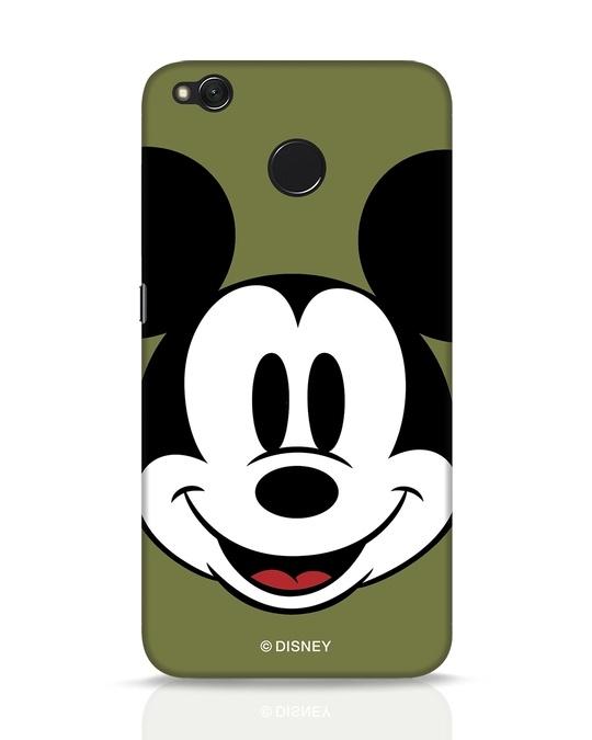 Shop Mickey Face Xiaomi Redmi 4 Mobile Cover-Front