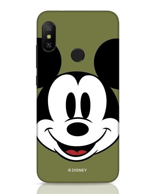 Shop Mickey Face Xiaomi Redmi 6 Pro Mobile Cover-Front