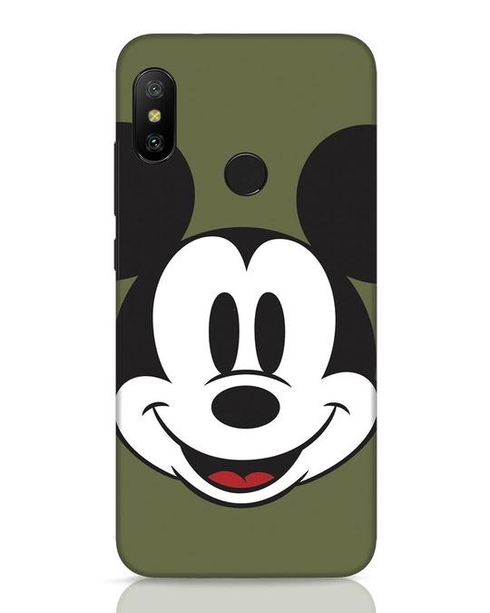 Shop Mickey Face Xiaomi Redmi 6 Pro Mobile Cover-Front