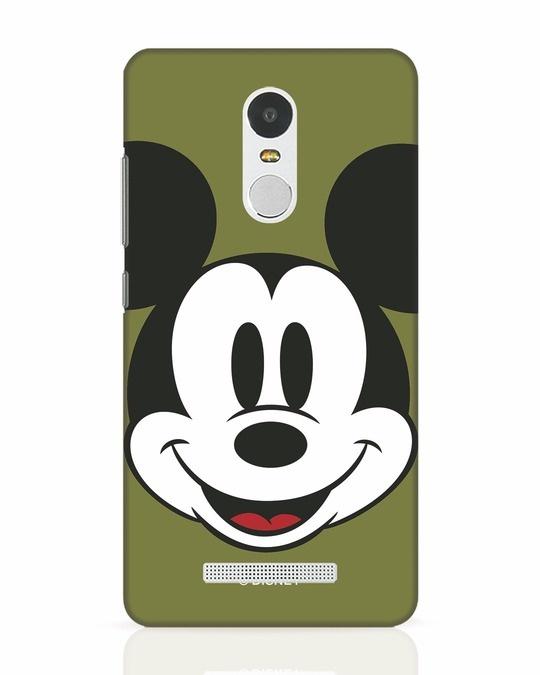 Shop Mickey Face Xiaomi Redmi Note 3 Mobile Cover-Front