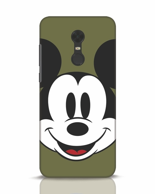 Shop Mickey Face Xiaomi Redmi Note 5 Mobile Cover-Front