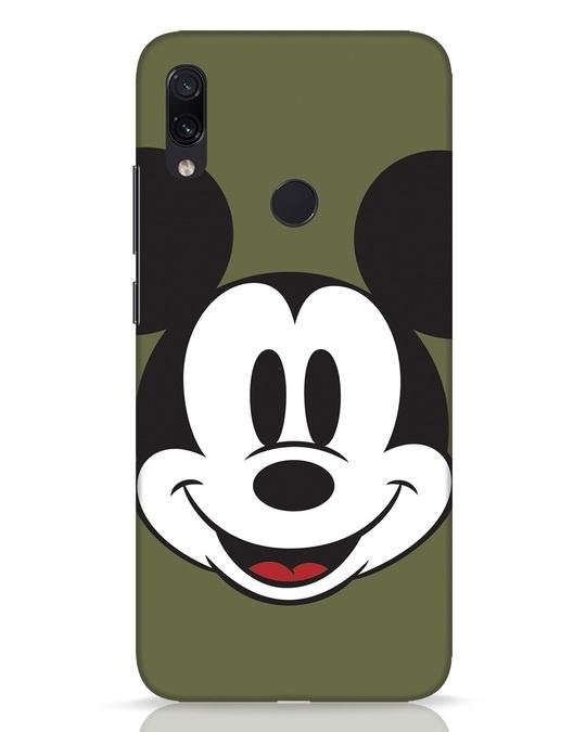 Shop Mickey Face Xiaomi Redmi Note 7 Pro Mobile Cover-Front
