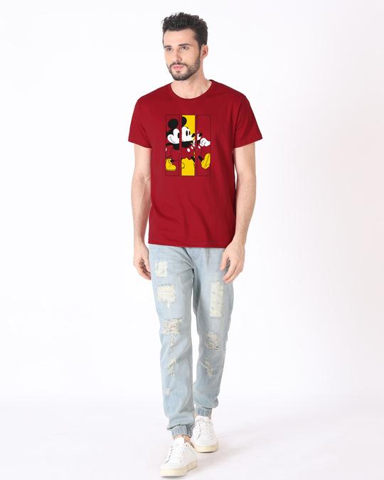 Shop Mickey Frames Half Sleeve T-Shirt (DL)-Design