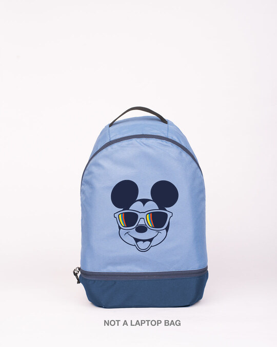 Shop Mickey Glasses Printed Small Backpack (DL)-Front