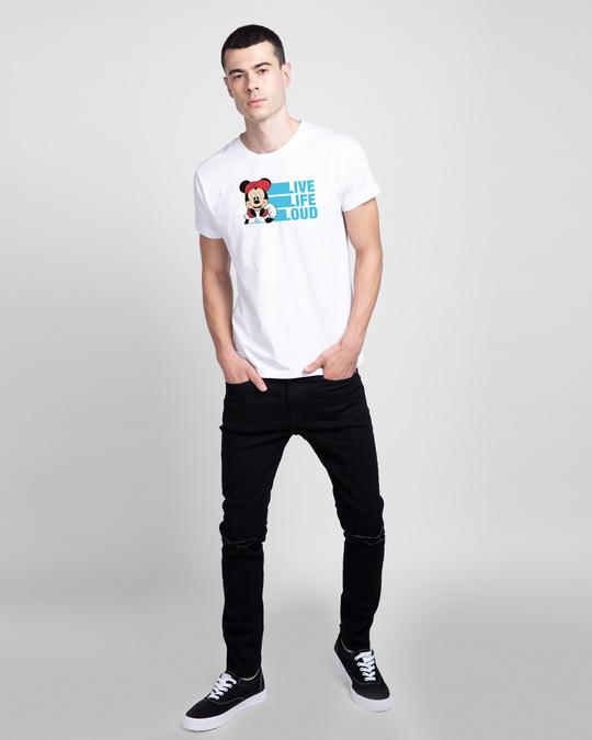 Shop Mickey Loud Half Sleeve T-shirt (DL)-Design