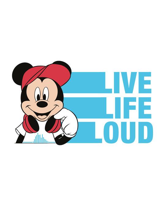 Shop Mickey Loud Half Sleeve T-shirt (DL)-Full