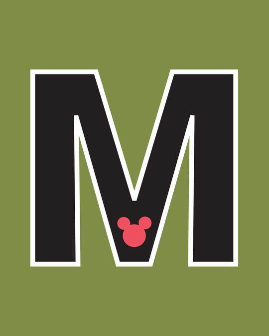 Shop Mickey M Badge Varsity Bomber Jacket