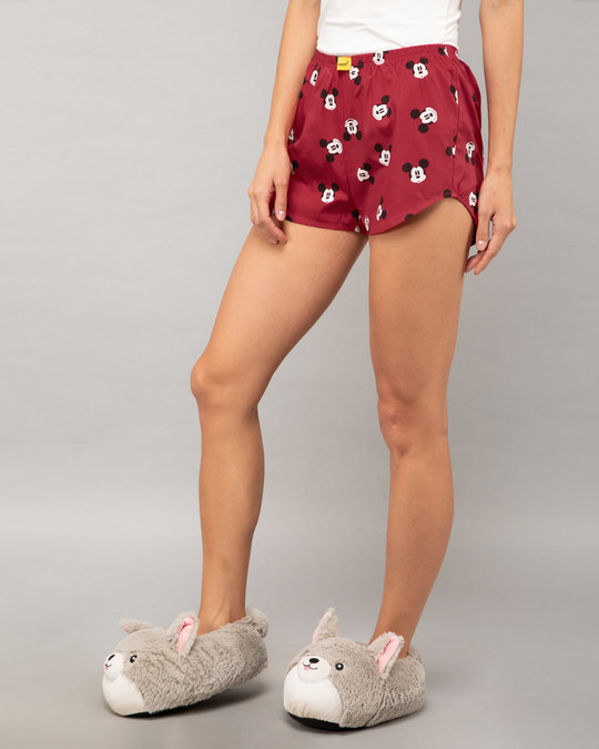 Shop Mickey Moods All Over Printed Boxer (DL)-Back