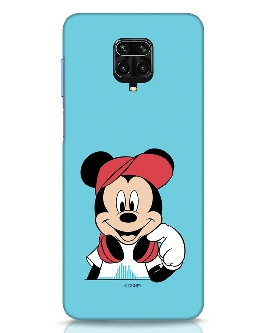 Shop Mickey Music Xiaomi Redmi Note 9 Pro Mobile Cover (DL)-Front