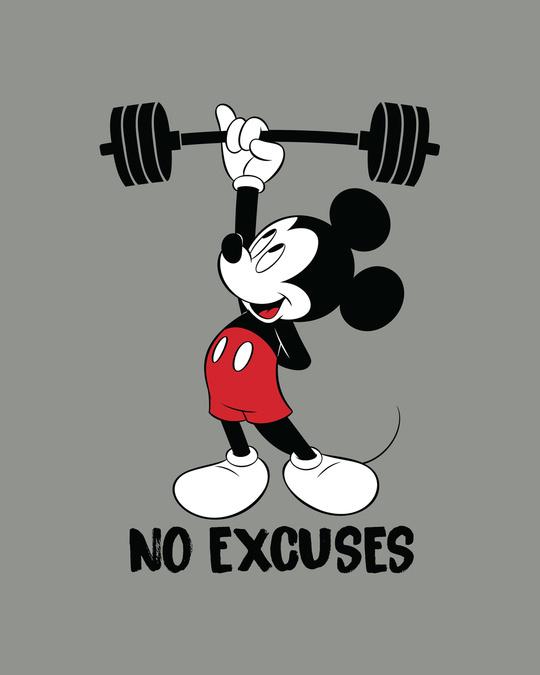 Shop Mickey No Excuses Half Sleeve T-Shirt (DL)-Full