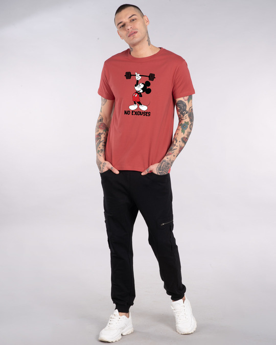 Shop Mickey No Excuses Half Sleeve T-Shirt (DL)-Design
