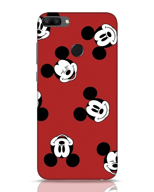 Shop Mickey Pattern Huawei Honor 9N Mobile Cover-Front