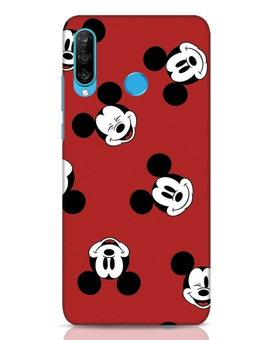 Shop Mickey Pattern Huawei P30 Lite Mobile Cover-Front