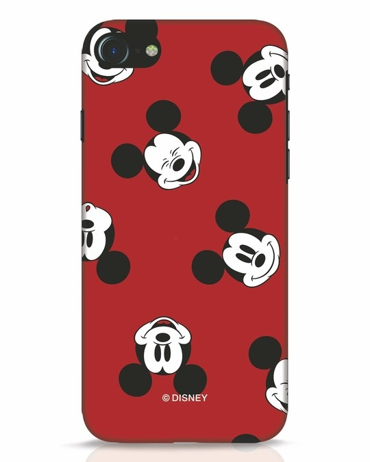Shop Mickey Pattern iPhone 7 Mobile Cover-Front