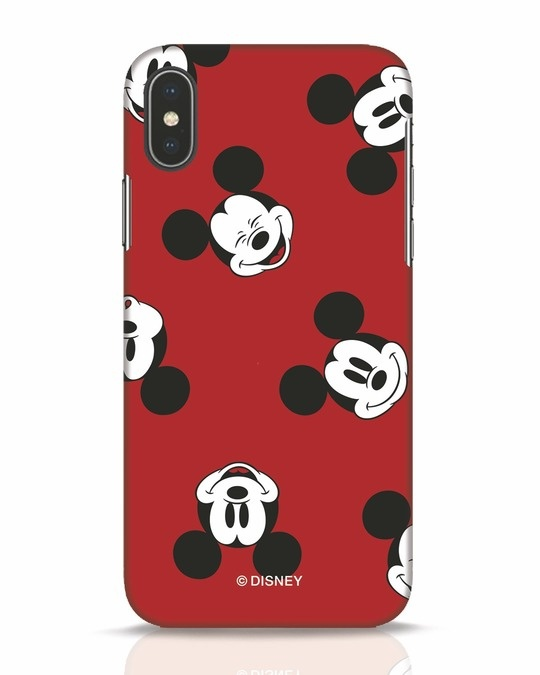 Shop Mickey Pattern iPhone X Mobile Cover-Front