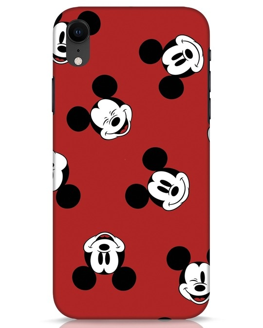 Shop Mickey Pattern iPhone XR Mobile Cover-Front