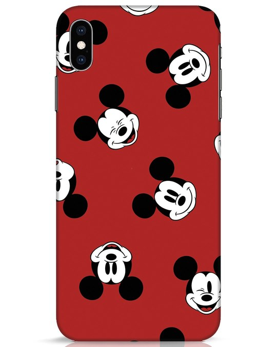 Shop Mickey Pattern iPhone XS Max Mobile Cover-Front