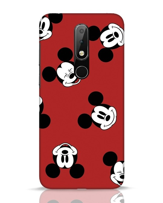 Shop Mickey Pattern Nokia 6.1 Plus Mobile Cover-Front